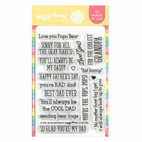 Waffle Flower Crafts - Clear Photopolymer Stamps - Be Him Sentiments