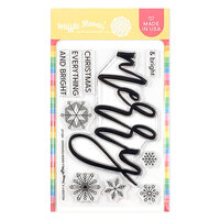 Waffle Flower Crafts - Christmas - Clear Photopolymer Stamps - Oversized Merry