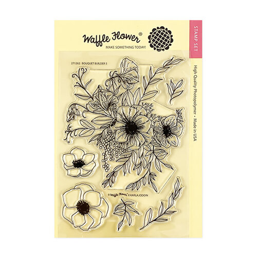 Waffle Flower Crafts - Clear Photopolymer Stamps - Bouquet Builder 5