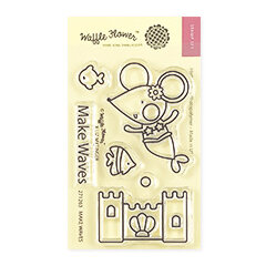 Waffle Flower Crafts - Clear Photopolymer Stamps - Make Waves
