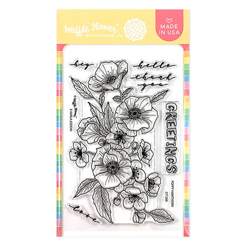Waffle Flower Crafts - Clear Photopolymer Stamps - Poppy Hawthorn
