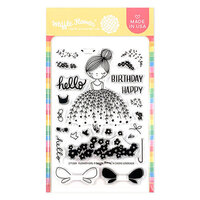 Waffle Flower Crafts - Clear Photopolymer Stamps - Flower Girl