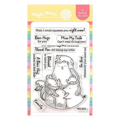 Waffle Flower Crafts - Clear Photopolymer Stamps - Bear Hugs