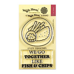 Waffle Flower Crafts - Clear Photopolymer Stamps - Fish and Chips