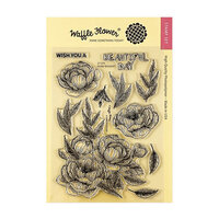Waffle Flower Crafts - Clear Photopolymer Stamps - Peony Bouquet Stamp Set