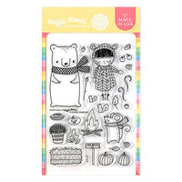 Waffle Flower Crafts - Clear Photopolymer Stamps - Happy Fall Stamp Set