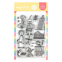 Waffle Flower Crafts - Clear Photopolymer Stamps - Ciao Stamp Set