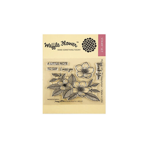Waffle Flower Crafts - Clear Photopolymer Stamps - A Little Note Stamp Set
