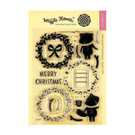 Waffle Flower Crafts - Christmas - Clear Photopolymer Stamps - Merry Wreath