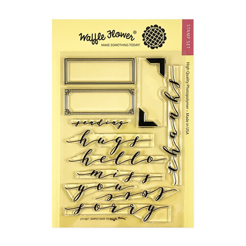 Waffle Flower Crafts - Clear Photopolymer Stamps - Simply Said 1
