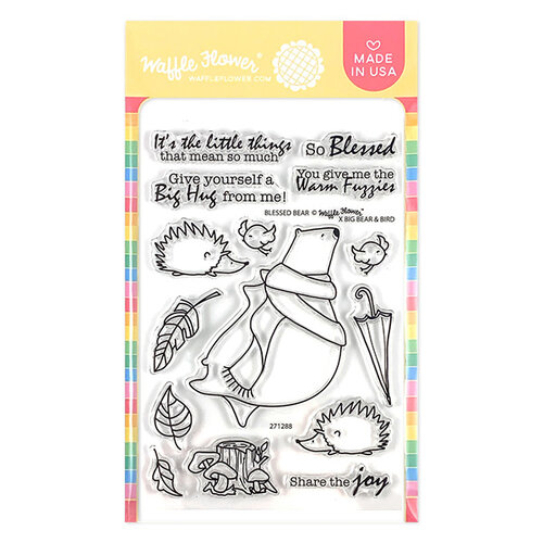 Waffle Flower Crafts - Clear Photopolymer Stamps - Blessed Bear