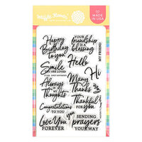 Waffle Flower Crafts - Clear Photopolymer Stamps - Sweet Sentiments