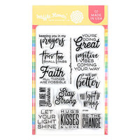 Waffle Flower Crafts - Clear Photopolymer Stamps - Fresh Rainbow Sentiments