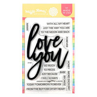 Waffle Flower Crafts - Clear Photopolymer Stamps - Oversized Love