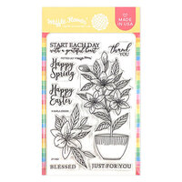 Waffle Flower Crafts - Clear Photopolymer Stamps - Potted Lily