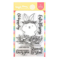 Waffle Flower Crafts - Clear Photopolymer Stamps - Rejoice Rabbit