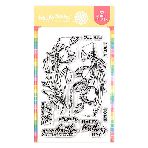 Waffle Flower Crafts - Clear Photopolymer Stamps - Tulips
