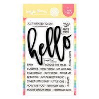 Waffle Flower Crafts - Clear Photopolymer Stamps - Oversized Hello