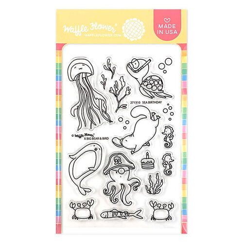 Waffle Flower Crafts - Clear Photopolymer Stamps - Sea Birthday