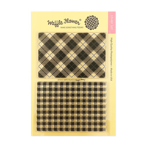 Waffle Flower Crafts - Clear Photopolymer Stamps - Simply Plaids