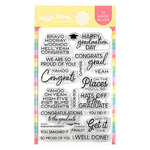 Waffle Flower Crafts - Clear Photopolymer Stamps - Graduation Sentiments