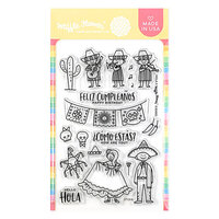 Waffle Flower Crafts - Clear Photopolymer Stamps - Hola Mexico