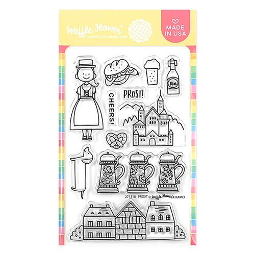Waffle Flower Crafts - Clear Photopolymer Stamps - Prost Germany