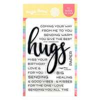 Waffle Flower Crafts - Clear Photopolymer Stamps - Oversized Hugs