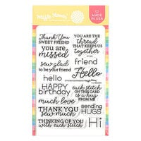 Waffle Flower Crafts - Clear Photopolymer Stamps - Stitched Sentiments