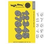 Waffle Flower Crafts - Craft Die - Sketchy Numbers