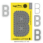 Waffle Flower Crafts - Craft Die - Jumbo Letter - B