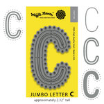 Waffle Flower Crafts - Craft Die - Jumbo Letter - C