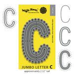 Waffle Flower Crafts - Craft Die - Jumbo Letter - C