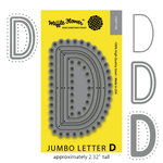 Waffle Flower Crafts - Craft Die - Jumbo Letter - D