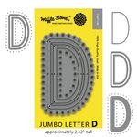 Waffle Flower Crafts - Craft Die - Jumbo Letter - D