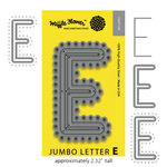 Waffle Flower Crafts - Craft Die - Jumbo Letter - E