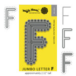 Waffle Flower Crafts - Craft Die - Jumbo Letter - F