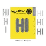 Waffle Flower Crafts - Craft Die - Jumbo Letters H I