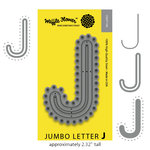 Waffle Flower Crafts - Craft Die - Jumbo Letter - J