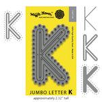 Waffle Flower Crafts - Craft Die - Jumbo Letter - K