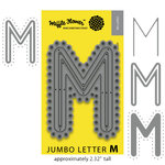 Waffle Flower Crafts - Craft Die - Jumbo Letter - M