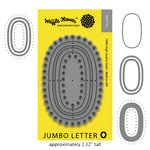 Waffle Flower Crafts - Craft Die - Jumbo Letter - O