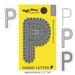 Waffle Flower Crafts - Craft Die - Jumbo Letter - P