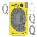 Waffle Flower Crafts - Craft Die - Jumbo Letter - Q