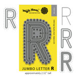 Waffle Flower Crafts - Craft Die - Jumbo Letter - R