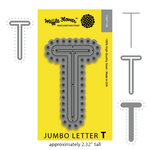 Waffle Flower Crafts - Craft Die - Jumbo Letter - T