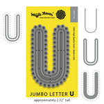 Waffle Flower Crafts - Craft Die - Jumbo Letter - U