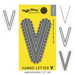 Waffle Flower Crafts - Craft Die - Jumbo Letter - V