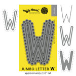 Waffle Flower Crafts - Craft Die - Jumbo Letter - W