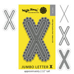 Waffle Flower Crafts - Craft Die - Jumbo Letter - X